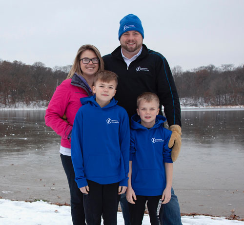 Graham, the owner of Lightning Restoration, and his family.